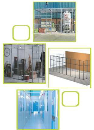 Installation of mesh partitions is faster than other traditional storage solutions, & can be easily maintained. The system can be relocated to a different area within your warehouse, depot, or factory giving you a modular system. The partitions may even be installed on Mezzanine Floor.