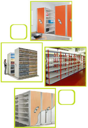 Static Shelving Storage For Libraries