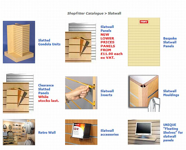Slatwall Shopfittings For Shops And Retail Trade