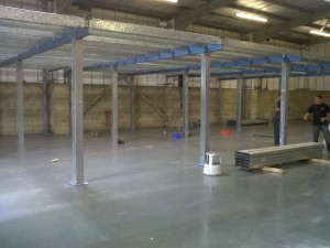 Used mezzanine floor for sale - 100ft x 30f